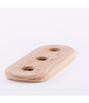 Рамка на оцилиндрованное бревно деревянная трехместная. Ясень.