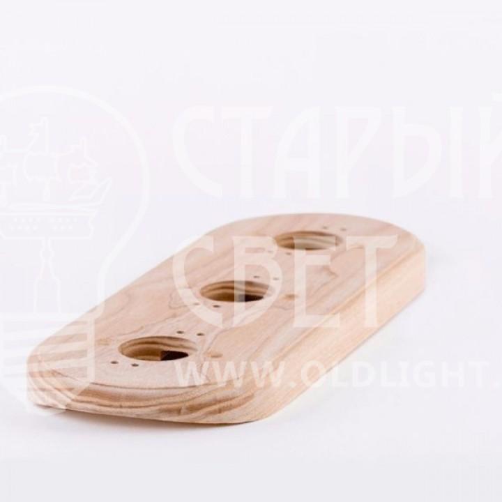 Рамка на оцилиндрованное бревно деревянная трехместная. Ясень