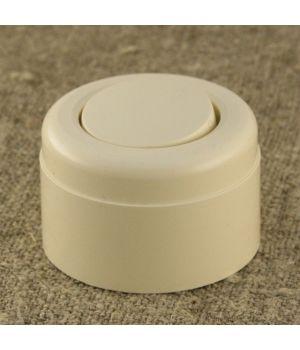 Ретро выключатель одноклавишный, бежевый пластиковый Vintage