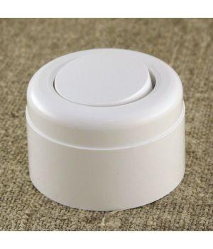 Ретро выключатель одноклавишный, белый пластиковый Vintage