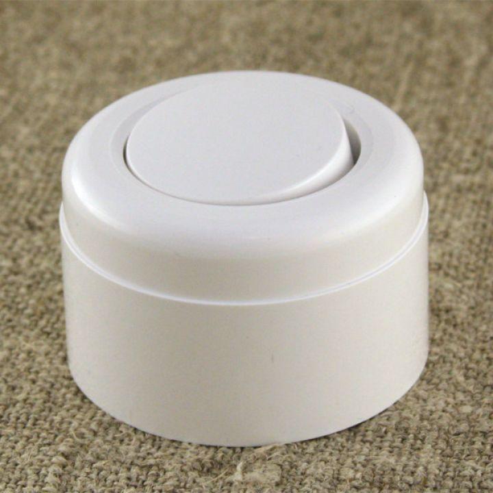 Ретро переключатель проходной, белый пластиковый Vintage