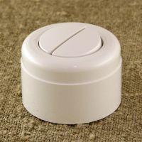 Выключатель двухклавишный, белый пластиковый Vintage