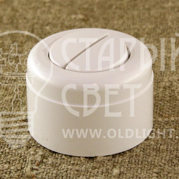 Выключатель двухклавишный пластиковый Vintage,белый