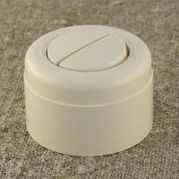 Выключатель двухклавишный, бежевый пластиковый Vintage